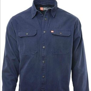 The American Outdoorsman Navy Canvas Shirt Jacket